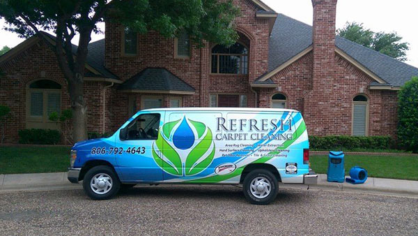Refresh Carpet Cleaning van servicing the Lubbock area.